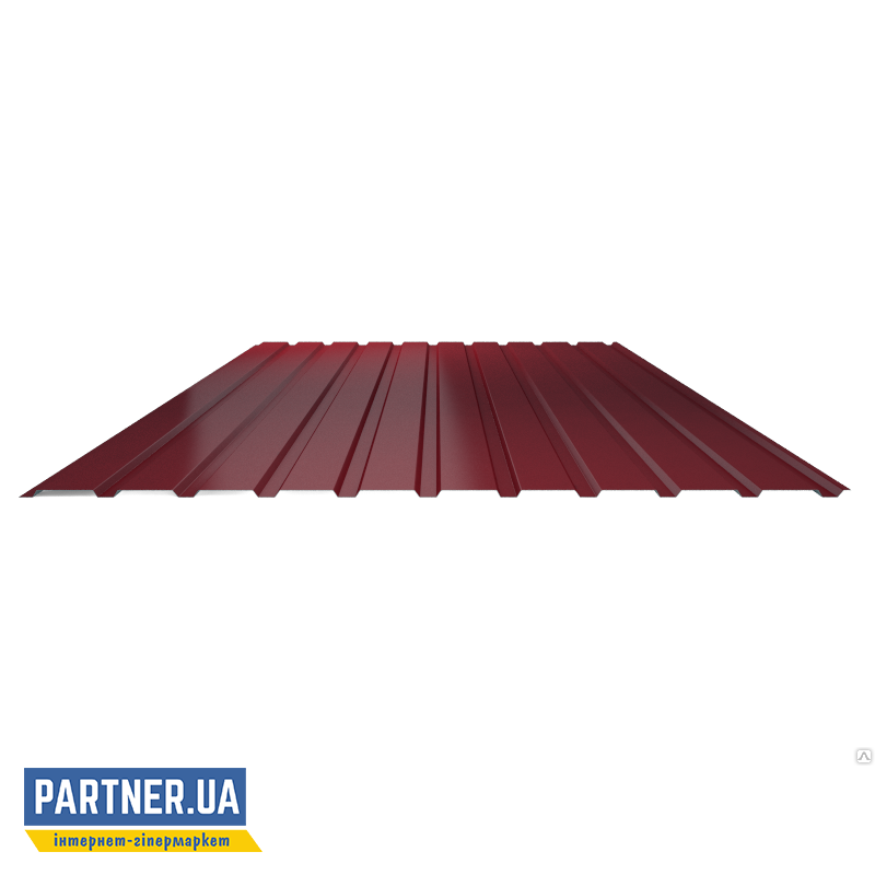 Профнастил стеновой RAL 3005, 950х2000х0,25 мм