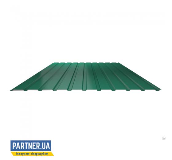 Профнастил стеновой RAL 6005, 950х1500х0,25 мм
