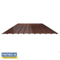 Профнастил стеновой RAL 8017, 950х2000х0,25 мм