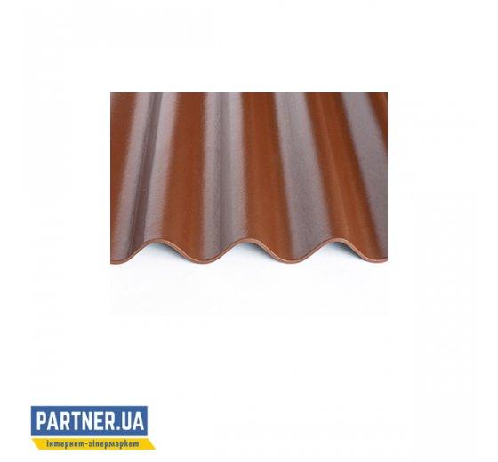Шифер волокнистоцементный FIBRODAH classic 1750х1130, темно-коричневый