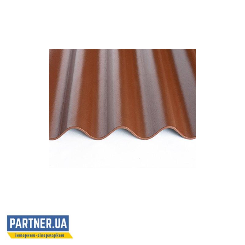 Шифер волокнистоцементный FIBRODAH modern 1130х585, темно-коричневый