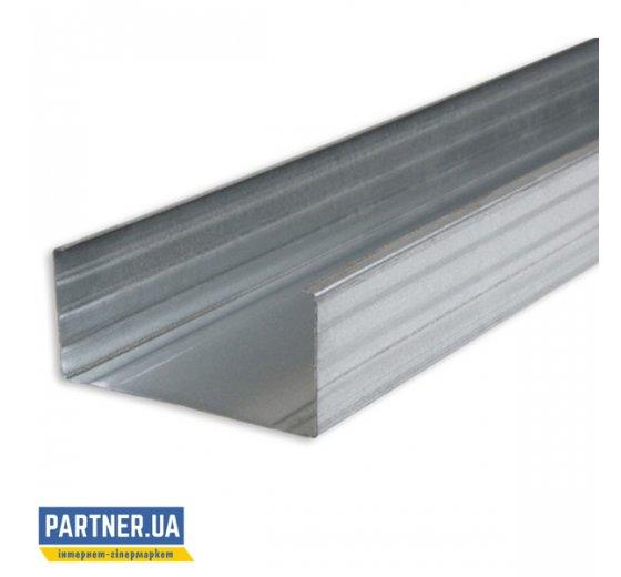 Профиль для гипсокартона перегородочный CW-100 4 м, 0,4 мм