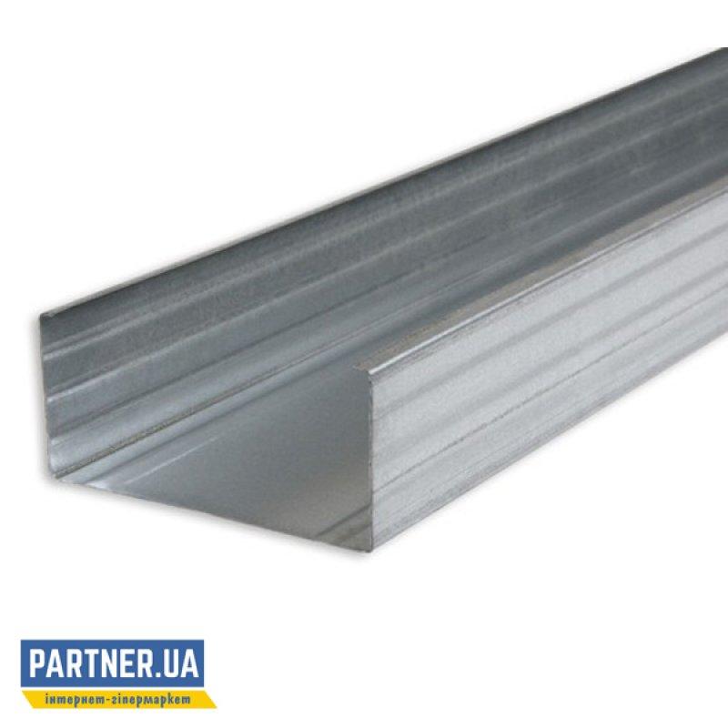 Профиль для гипсокартона перегородочный CW-100/50 3 м, 0,4 мм