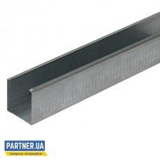Профиль для гипсокартона перегородочный CW-50/50 3 м, 0,4 мм