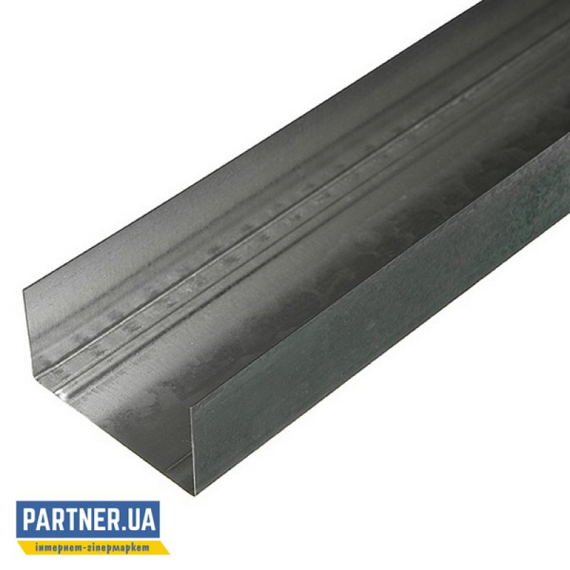 Профиль для гипсокартона перегородочный UW-75/50 3 м, 0,4 мм
