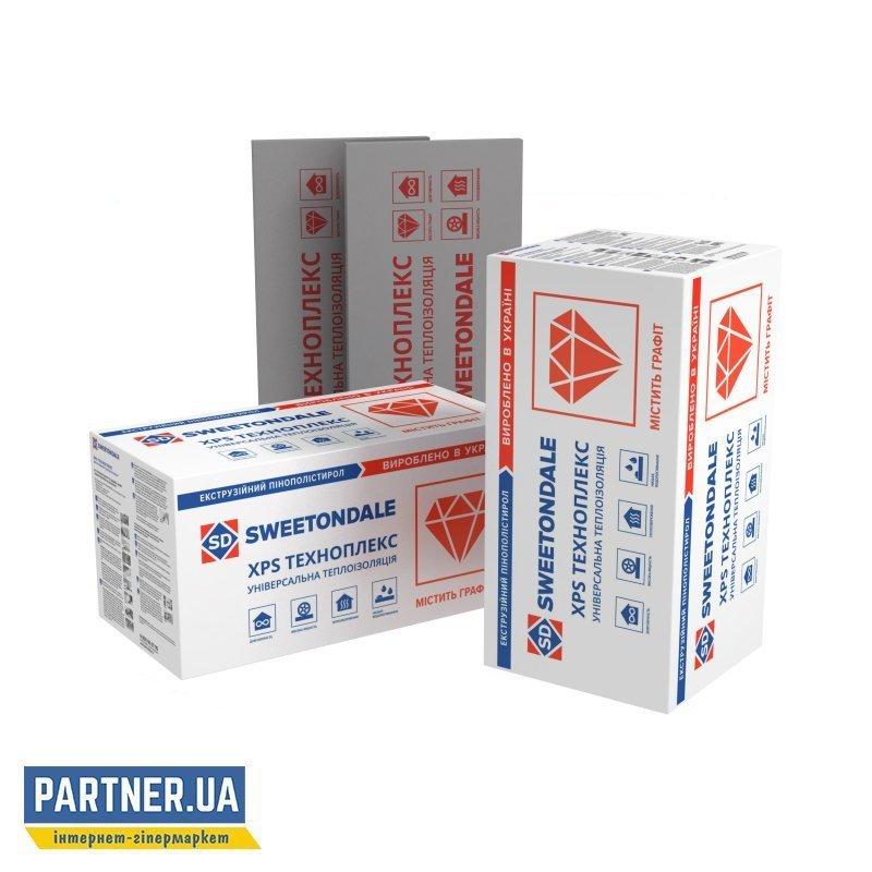 Пенополистирольные плиты ТЕХНОПЛЕКС С/2,  экструдированные, 1200х600х20 мм