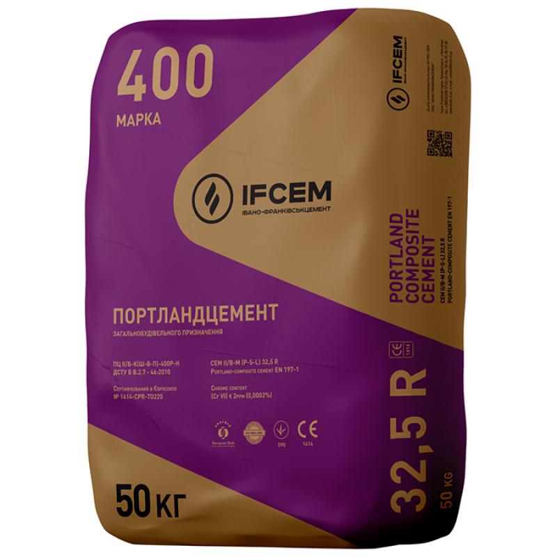 Цемент ПЦ II/Б-Ш-400 Ивано-Франковск 50 кг