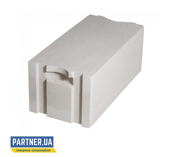 Газоблок AEROC стеновой D300 паз-гребень, Березань 375х200х600