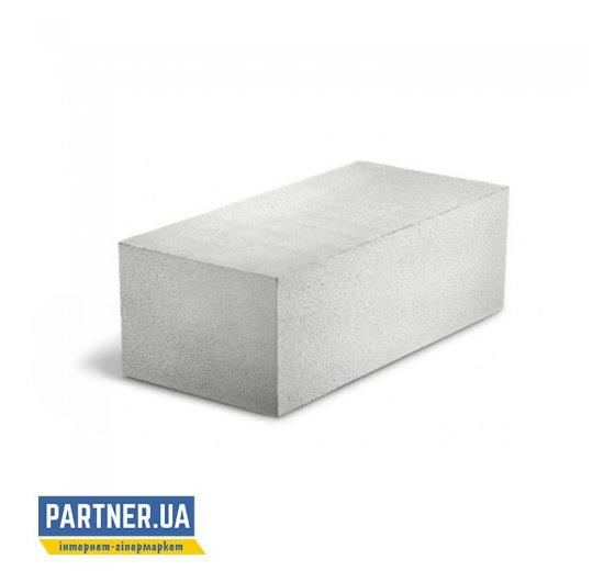 Газоблок Стоунлайт стеновой D400-D500 гладкий 250х200х600