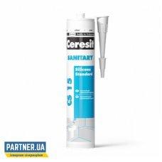 Герметик силиконовый санитарный Церезит ЦС 15 Прозрачный (Ceresit CS 15) 280 мл