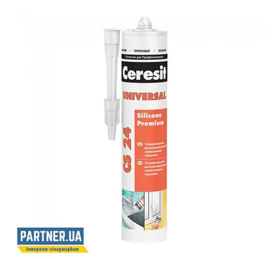 Герметик силиконовый универсальный Церезит CS 24 Прозрачный (Ceresit CS 24) 280 мл