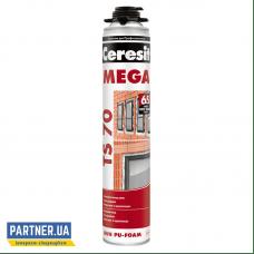 Пена монтажная Церезит ТС 70 Мега (Ceresit TS 70 MEGA) 870 мл, под пистолет