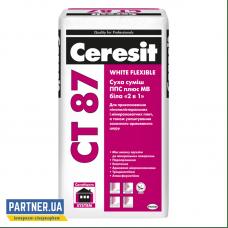 Клей для пенопласта и минеральной ваты Церезит СТ 87 (Ceresit CT 87) 25 кг