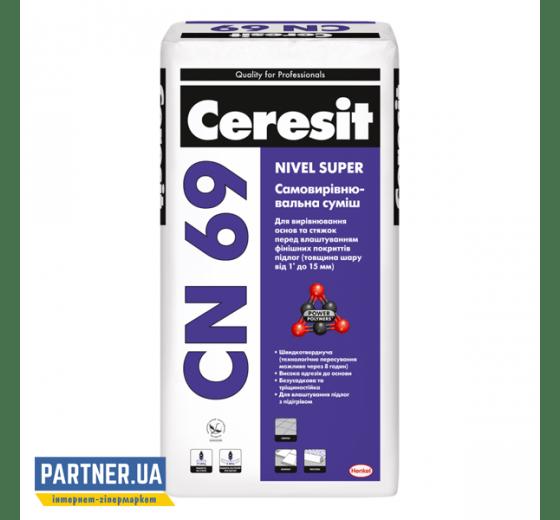Самовыравнивающаяся смесь для пола Церезит СН 69 (Ceresit CN 69) 3-15 мм, 25 кг