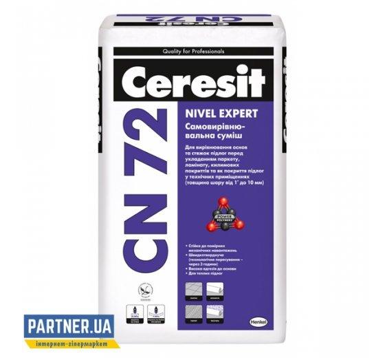 Самовыравнивающаяся смесь для пола Церезит СН 72 (Ceresit CN 72) 2-10 мм, 25 кг
