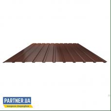 Профнастил стеновой RAL 8017, 950х1700х0,25 мм