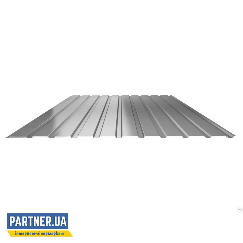 Профнастил стеновой оцинкованный, 950х2000х0,25 мм